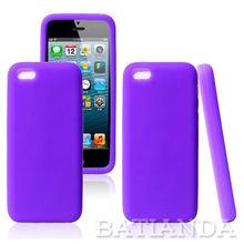 gel matt rubber skin back cover case for iphone 5c