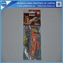 custom hanging car paper air freshener