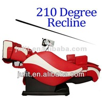 Electrical 210 degree recline Zero Gravity True 3D Massage Chair with Heating DVD MP3 Speaker VFD Panel Neck and Waist Airbags