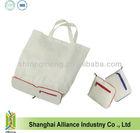 Nylon Zipper Rectangle Foldable Tote Bag