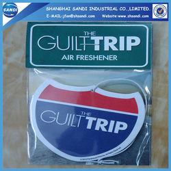 promotional paper car air freshener