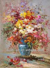 100% Handpainted Hot Selling Palette Knife Textured Flower Canvas Art