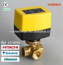 Hvac thermostat electric valve yellow actuator 110V dn20