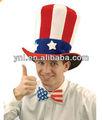 Estados unidos fieltro sombrero de copa el tío sam traje de accesorios para el carnaval/accesorios de fiesta