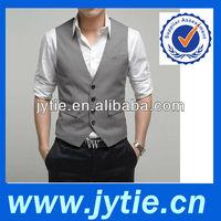 Polyester Grey Color Fashion Men's Waistcoat