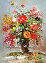 knife rose oil painting of KFL028