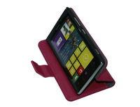 Wholesale Lychee Pattern Book Wallet Leather Stand Case For Nokia Lumia 925 with credit card Case