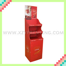 Red printed corrugated attractive chocolate display shelf