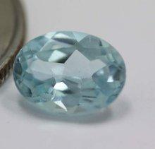 Natural oval cut blue topaz Loose gem stone approx. 1.41carat blue topaz gem