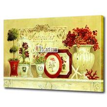 Good quality wall art canvas prints impression still life and flower painting for dinner room