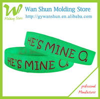 Glow in dark silicon wristband organza bag for promotional gift