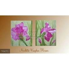 Handmade Modern Group flower Oil painting, purple art