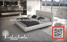 N449# modern luxury king size leather bedroom suite