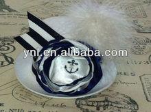 Mini top hat-mini top hat fascinator-Nautical hat-Navy headbands-mad hatter-tea party