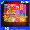 LED light frame with fiber and music