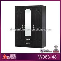 W983-48 bedroom furniture wooden 3 door wardrobe closet design