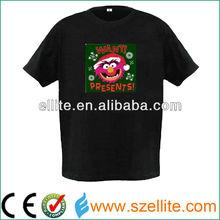 Multi new christmas design shirt 2013 illuminated tee shirts
