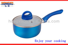 Happy Cooking Aluminum Metallic Printing Sauce Pan,Non-stick Frying Pan(HX-M-118S)