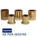 Oilite astm. b438 gr 1 ty 2 sae841 flanged douille en bronze fritté, poudre de métal en bronze portant brousse