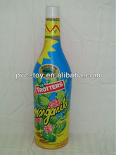 small pvc inflatable beverage bottle for commercial advertising