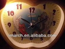 hot sell of apple shape clock,cartoon dial