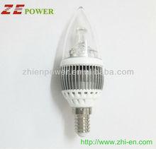 hot e14 4w silver shell led bulb light led candle light