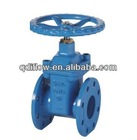 Gate valve GGG50 body, rubber seat, flange coonection