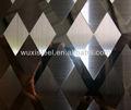 Espejo, hl, decorativo grabado de placas de acero inoxidable tisco!!