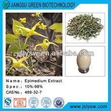 Epimedium extract/5% 10% 20% 50% 98% icariin icariins/Horny goat weed extract