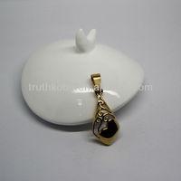 2013 fashion hot sell stainless steel sideways cross pendant for bracelet jewelry