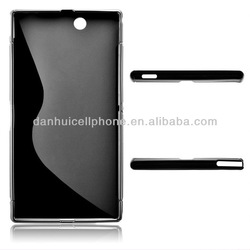 black soft gel tpu cover protector case for song xperia z ultra xl39h