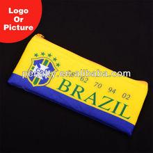 MOQ 100 pcs for custom design,BRAZIL pvc pen bag &pencil case