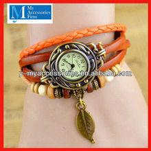 Beautiful leather wrist watch supplier in yiwu