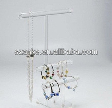 Clear Acrylic 3-Bar Jewelry Display Perspex Beads Display