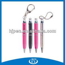 Mini Metal Twist Ball Pen, Small Pen Key Chain