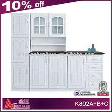 K802A+B+C elegant wooden pantry cheap kitchen furniture