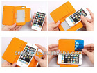 Free Shipping Genuine Leather original Michael wallet case for iphone 5S 5C High quality best gift
