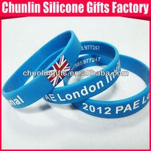 2012 PAE invitational UK flag printing silicone wristbands