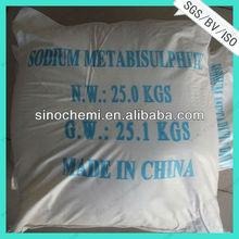 Popular Chemicals Sodium Metabisulfite hs code:2832100000