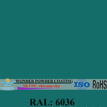RAL6036 Pearl Opal Green electrostatic epoxy/polyester powder coating