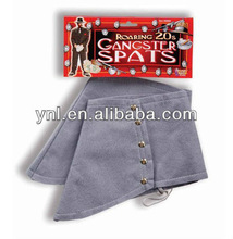 Gangster Spats Steampunk Grey Gray Dress Up Halloween Adult Costume Accessory