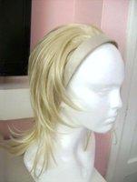 Half Head Wig/Extension on Headband Blonde Synthetic