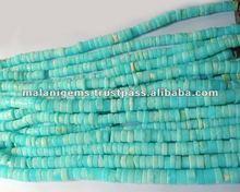 Natural Peru Opal Plain Tyre Calibrated Loose Beads