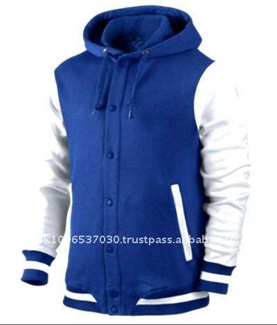 Blue Varsity Jacket With Hood Girls Varsity Jacket With Hood