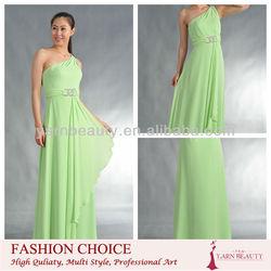 One-Shoulder Chiffon Long Dress for Bridesmaid Dress
