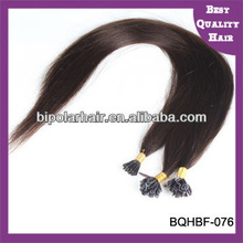 Top Virgin Human Hair Wholesale Brazilian straight nail tip hair Italian glue