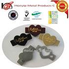 heart shape custom logo metal printed dog tag