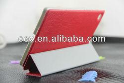 Ultra Slim Lightweight Litchi Pattern Stand PU Leather Case for Google New Nexus 7 FHD 2nd Gen