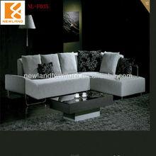 Foshan Newland furniture factory modern corner fabric european style classic sofa types of sofa material (NL-F035)