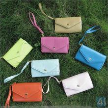 7 Colors Envelope Wallet Case Purse For iPhone 5C/5S S4 Phone bag --p-uni5case001